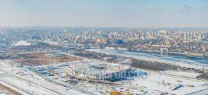 Стадион Арена. Стройка. Зима. Код товара: DJI_0060