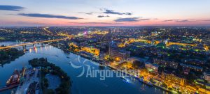 Закат над городом. Панорама. Код товара: DJI_0077