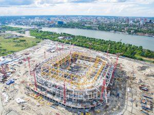 Стадион Арена. Строительство. Панорама. Код товара: DJI_0100