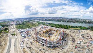Стадион Арена. Строительство. Панорама. Код товара: DJI_0101