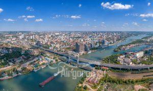 Над мостами. Панорама города. Код товара: DJI_0107
