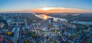 Рассвет над центром Ростова. Код товара: DJI_0117