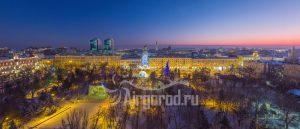 В парке Горького зимним вечером. Код товара: DJI_0137