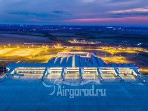 """Аэропорт """"Платов"""" в ночном освещении. Код товара: DJI_0192"""