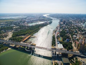 Панорама реки Дон. Мосты. Код товара: DJI_0206
