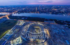 Стадион Арена. Строительство. Панорама. Код товара: DJI_0920