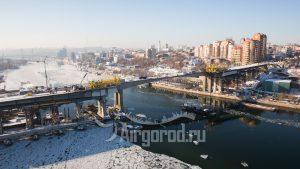 Ворошиловский мост. Реконструкция. Зима. Код товара: DMZ_8535