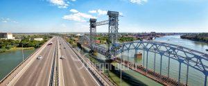 Темерницкий и железнодорожный мосты. Код товара: WP8A1307