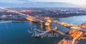 Ворошиловский мост. Реконструкция. Проход баржи. Код товара: WP8A3499