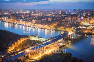 Ворошиловский мост. Реконструкция. Вечерние огни. Код товара: WP8A5064