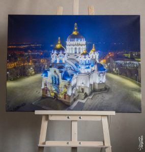 Новочеркасский храм в пасхальную ночь, фотокартины
